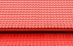 Red roof top background and texture Royalty Free Stock Images