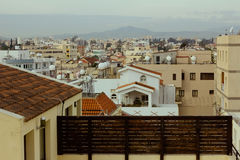 Red roof tops on modern housing estate, Cyprus Royalty Free Stock Photography