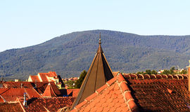 Red roof tops of Obernai, Alsace France Stock Photos