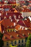 Red roof tops, Prague Stock Photos