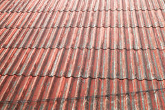 Red Roof. Wave of red roof, Stacked orderly straight line Royalty Free Stock Image