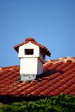 Red Roof With Chimney Royalty Free Stock Photos
