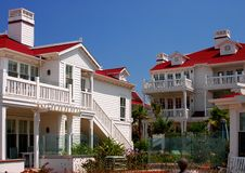 Red Roofed Bungalows Stock Photo