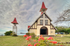 Red roofed church Royalty Free Stock Photo