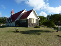 Red Roofed Church. In Cap Malheureux, North Of Mauritius Island Stock Image