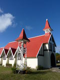Red Roofed Church. In Cap Malheureux, North Of Mauritius Island Royalty Free Stock Images