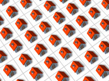 Red roofed 3d houses Royalty Free Stock Photo