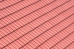 Red roofing background Stock Photo