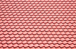 Red roofing background Stock Photography