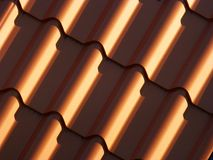 Red roofing from metal plate Stock Images
