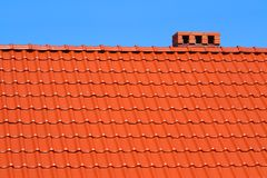 Red roofing-tiles Royalty Free Stock Photography