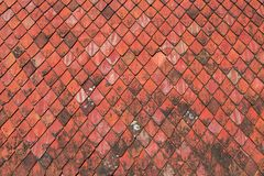 Red roofing tiles texture Royalty Free Stock Images