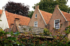 Red roofs – house. Blokzijl town in Netherlands Stock Images