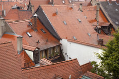 Red roofs Stock Photo