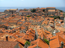 Red roofs. Dubrovnik, Croatia stock photos