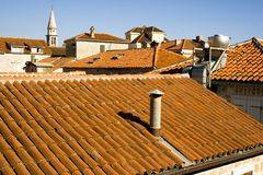 Red roofs Stock Photos