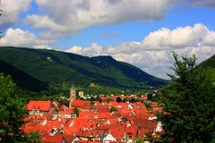 Red roofs Royalty Free Stock Photos