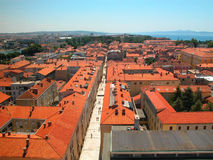 Red roofs. Rooftops of Zadar, Old City, Croatia Royalty Free Stock Photo