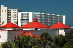 Red Roofs Stock Images