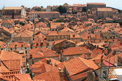 Red roofs. Of Dubrovnik, Croatia Stock Photo