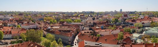 Red roofs of the ancient european city Royalty Free Stock Images