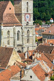 Red roofs in Brasov, Romania stock photo