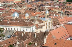 Red roofs in Brasov, Romania Stock Photography