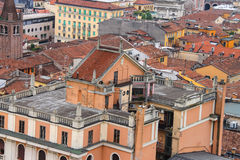 Red roofs of buildings in the city center. Verona, Italy Royalty Free Stock Photos
