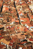 Red roofs in Cefalu. View on old red roofs in Cefalu city. SIcily island, Italy, Europe Royalty Free Stock Images