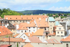 Red roofs in Cesky Krumlov royalty free stock photography