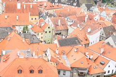 Red roofs in Cesky Krumlov Stock Photos