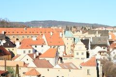 Red roofs in Cesky Krumlov Stock Image