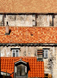 Red roofs in the city Royalty Free Stock Images