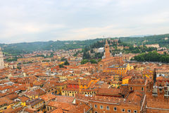 Red roofs of the city center. Verona, Italy Stock Image