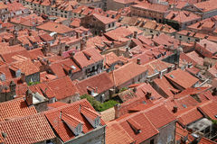 Red roofs Stock Photography