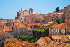 Red roofs of Dubrovnik Stock Photography