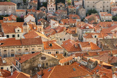 Red roofs of Dubrovnik's Old Town Stock Photography