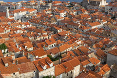 Red roofs of Dubrovnik's Old Town Royalty Free Stock Image