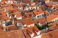 Red roofs of Dubrovnik's Old Town Stock Images