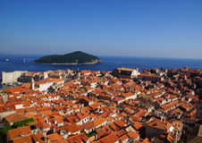 Red roofs of Dubrovnik Stock Photo