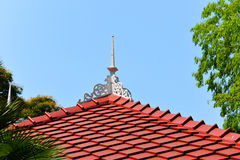 Red roofs on hotel. With tree Royalty Free Stock Images