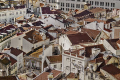 Red roofs houses Royalty Free Stock Photography