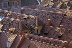 Red roofs. Houses with traditional red roofs in Graz, Austria Stock Images