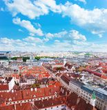 Red roofs of the houses in Vienna Royalty Free Stock Photo