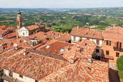 Red roofs of italian town. Royalty Free Stock Photo
