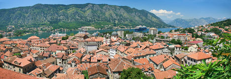 Red roofs of Kotor Royalty Free Stock Photo