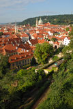 Red roofs landscape. Prague, Czech Republic royalty free stock images