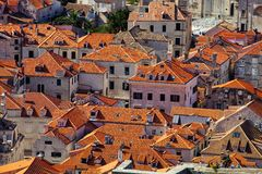 Red roofs of old Dubrovnik, Croatia Royalty Free Stock Photos