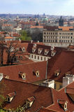 Red roofs of old Prague Royalty Free Stock Photography