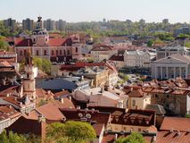 Red roofs of the old Vilnius city Royalty Free Stock Photo